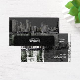 PixDezines City Scape, Lakeshore, Chicago/grey Business Card