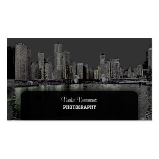 PixDezines City Scape, Lakeshore, Chicago/grey Pack Of Standard Business Cards