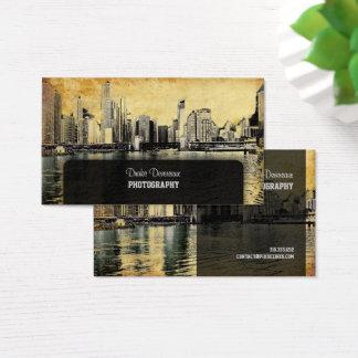 PixDezines City Scape, Lakeshore, Chicago, vintage Business Card