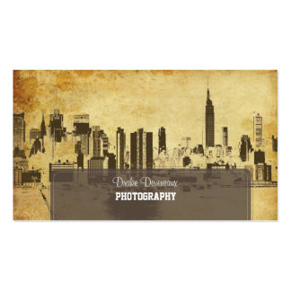 PixDezines City Scape, New York, vintage Pack Of Standard Business Cards