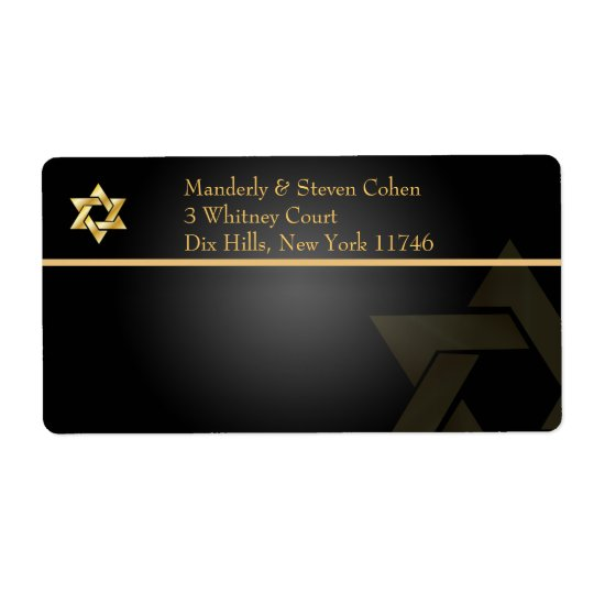 PixDezines Classic Bar Mitzvah/black+gold/Shipping