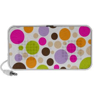 PixDezines Colorful Polka Dot Mp3 Speaker