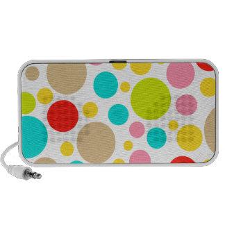 PixDezines Colorful Polka Dot Travel Speaker