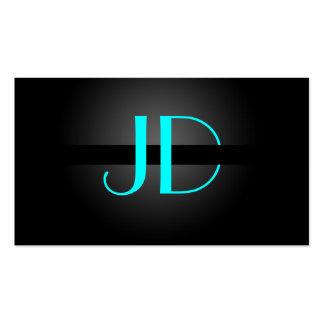 PixDezines Cool Neon Lights Monogram DIY color Business Card Templates