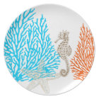 PixDezines coral+seahorse/DIY background colour! Plate