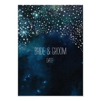 PixDezines Cosmic/NASA/Starry Night 13 Cm X 18 Cm Invitation Card