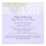 PixDezines Crystal Chandelier+Moiré Damask/purple Invitation