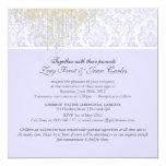 PixDezines Crystal Chandelier+Moiré Damask/purple 13 Cm X 13 Cm Square Invitation Card