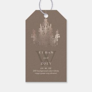 PixDezines Crystal Chandelier Rose Gold/DIYcolor