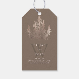PixDezines Crystal Chandelier Rose Gold/DIYcolor Gift Tags