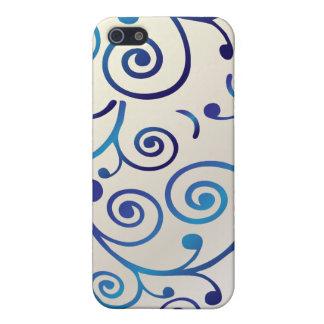 PixDezines Cupcake Swirls, blue+faux pearl iPhone 5/5S Cases