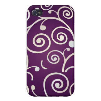 PixDezines Cupcake Swirls, faux pearl+14 colors iPhone 4 Cover