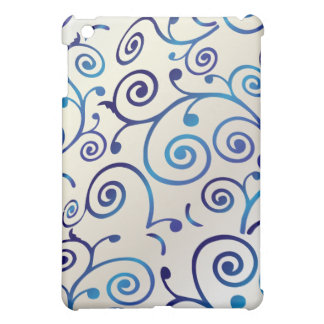 PixDezines Cupcake Swirls, Faux Pearl+Blue iPad Mini Cover