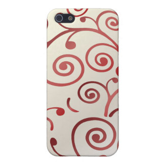 PixDezines Cupcake Swirls, red+faux pearl Case For iPhone 5/5S
