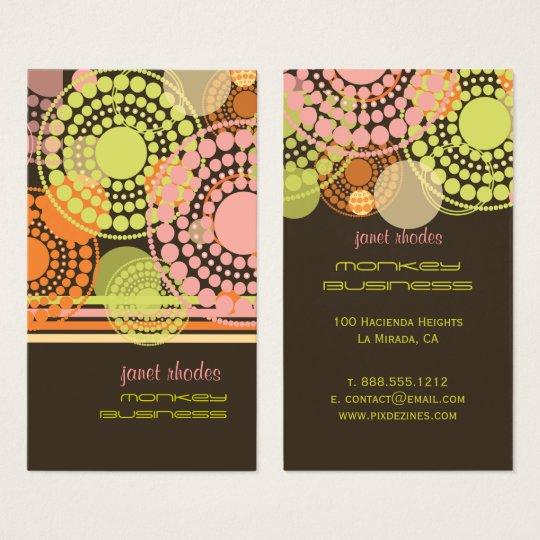 PixDezines Customisable retro dots Business Card