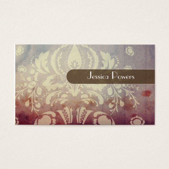 PixDezines Damask Wallpaper Business Card