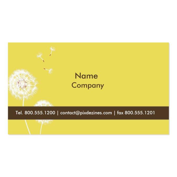 pixdezines dandelions dijon mustard business card templates. Black Bedroom Furniture Sets. Home Design Ideas