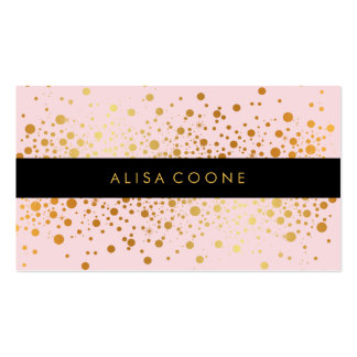 PixDezines dazzled faux gold specks/DIY background Pack Of Standard Business Cards
