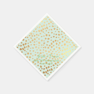 PixDezines dazzled faux gold specks/DIY color/mint Disposable Serviette