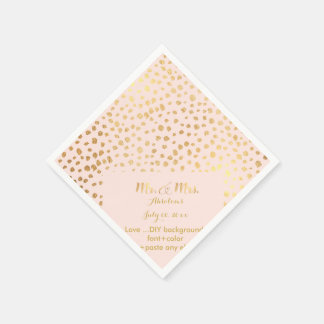 PixDezines dazzled faux gold specks/DIY Paper Napkin