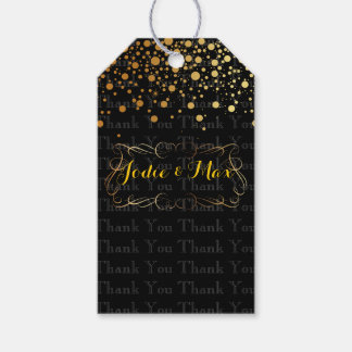 PixDezines dazzled/gold specks/DIYcolor Pack Of Gift Tags