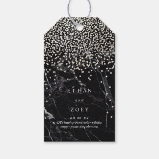 PixDezines Dazzled in Faux Silver/Black Marble Gift Tags