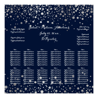 PixDezines dazzled/silver specks/seating chart Poster