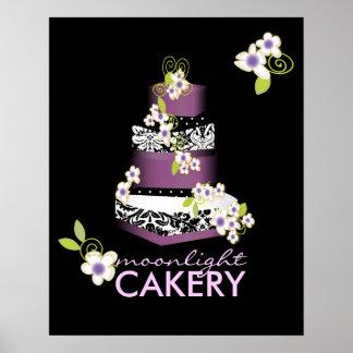 PixDezines Desiree Damask Cake, Lilac Poster