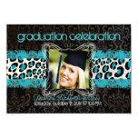 PixDezines diy 2014 graduation/leopard 5x7 Personalized Invitations
