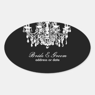 PixDezines diy background color, chandelier Oval Sticker
