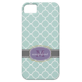 PixDezines diy background color/quatrefoil pattern Barely There iPhone 5 Case