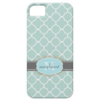 PixDezines diy background color/quatrefoil pattern iPhone 5 Case
