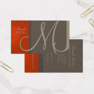 PixDezines diy background colors/stylish monogram Business Card