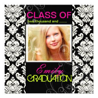 PixDezines diy color 2012graduation venezia damask Custom Invite