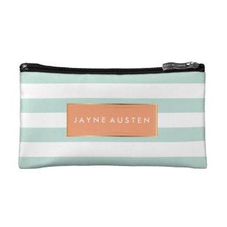 PixDezines DIY color adjustable stripes Cosmetic Bags