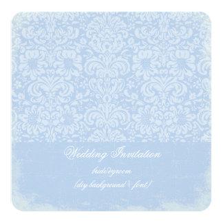 PixDezines DIY color/fidora damask 13 Cm X 13 Cm Square Invitation Card