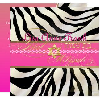 PixDezines DIY color/natural Zebra, Bat Mitzvah Card
