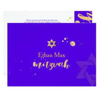 PixDezines DIY color/Stylish Script/Bar Mitzvah 13 Cm X 18 Cm Invitation Card