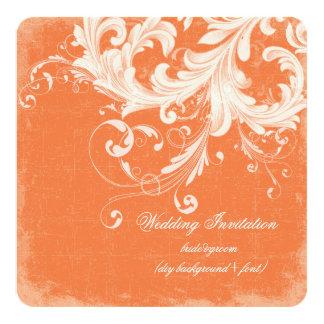 PixDezines DIY color/vintage swirls 13 Cm X 13 Cm Square Invitation Card