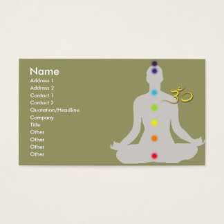 PixDezines diy colors, meditation and om symbol Business Card