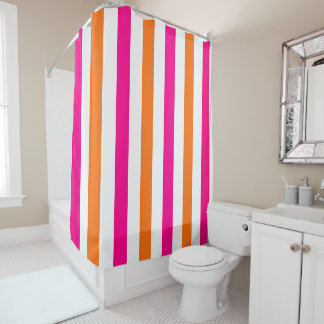 PixDezines DIY Colors Stripes, Monogramable Shower Curtain