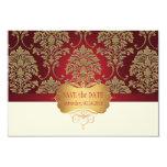PixDezines DIY colour/florentius damask save date Personalised Invitations