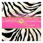 PixDezines DIY colour/natural Zebra, Bat Mitzvah Custom Invite