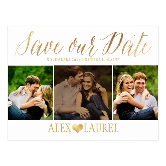PixDezines DIY colour/Save our Date/Fun Script Postcard