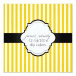 PixDezines diy colour+size plain white stripes Personalised Announcement