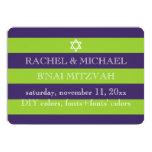 PixDezines DIY colours/stripes bnai mitzvah 13 Cm X 18 Cm Invitation Card