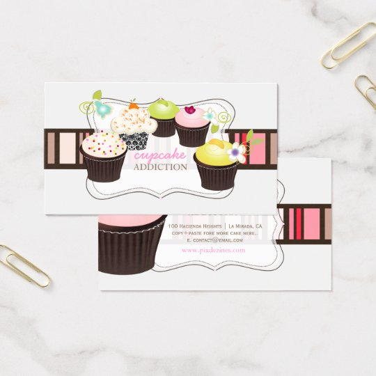 PixDezines diy cupcake Business Card