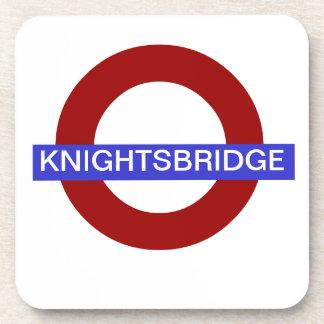 PixDezines DIY text/underground.knightsbridge Coasters