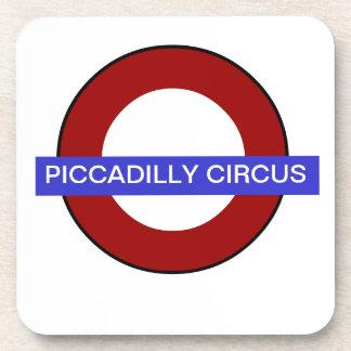 PixDezines DIY text/underground piccadilly circus Coaster