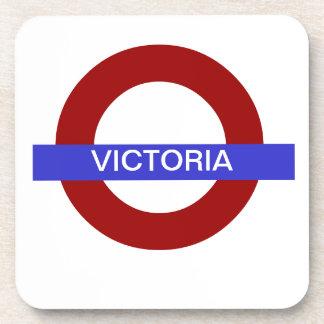 PixDezines DIY text/underground victoria Coaster